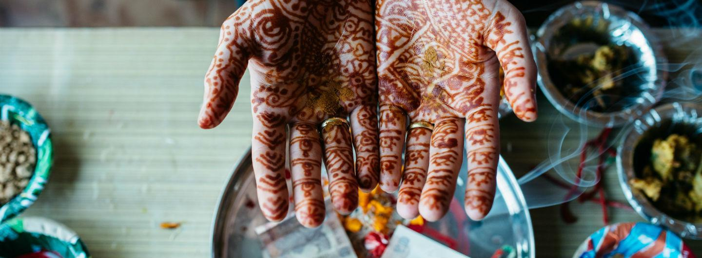 Henna is used in Ayurvedic skin and hair care