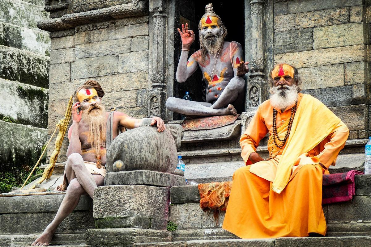 ayurveda holy men in pashupati