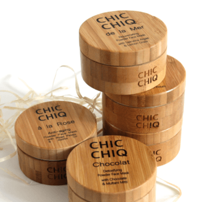 set of five bamboo face masks